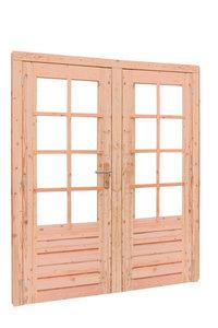 Douglas dubbele deur 8-ruits